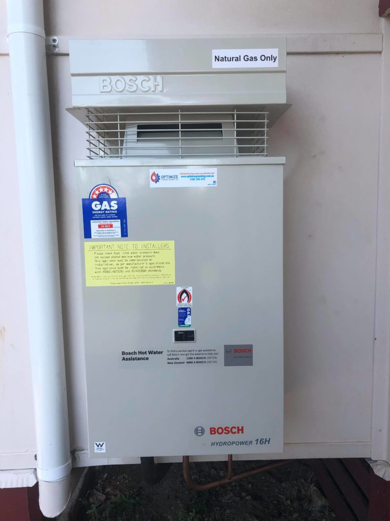 instantaneous gas hot water